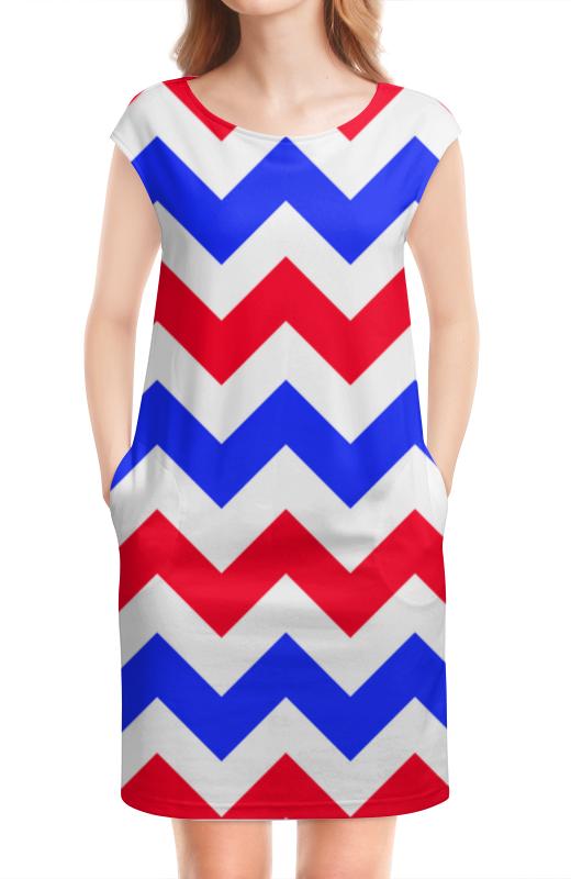 Платье без рукавов Printio Zigzag