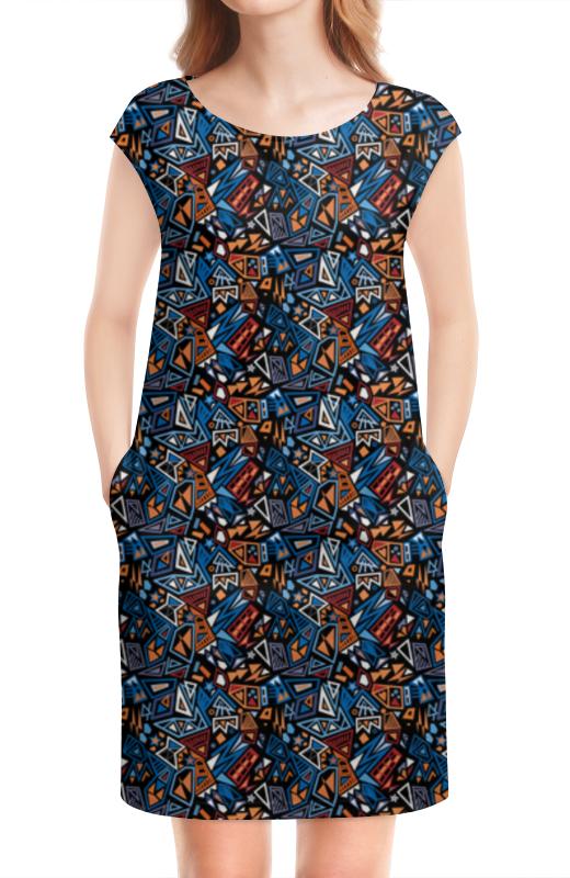 Платье без рукавов Printio Модный и стильный геометрический паттерн платье летнее printio модный и стильный геометрический паттерн
