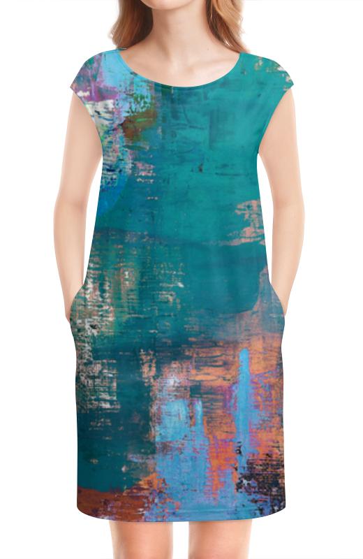 Платье без рукавов Printio Бирюзовая абстракция бирюзовая акара продаю 2009 москва