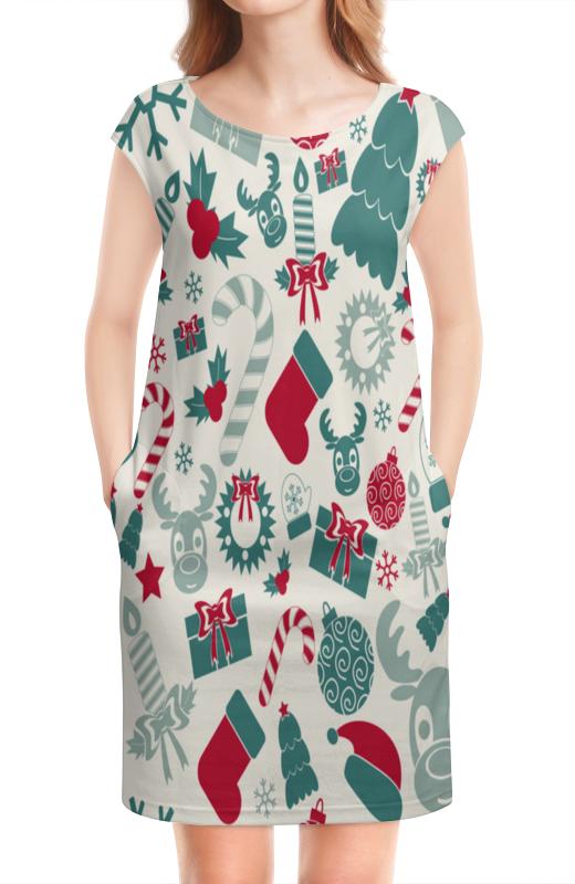 Платье без рукавов Printio Новогоднее настроение