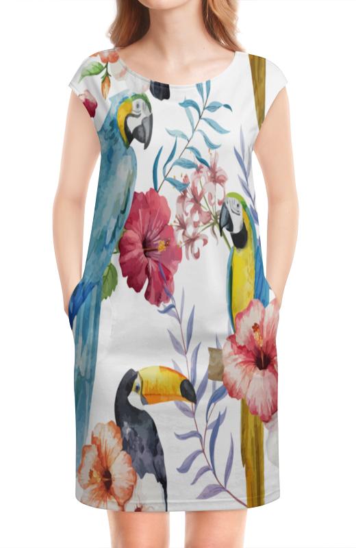 Платье без рукавов Printio Птицы перелетные птицы