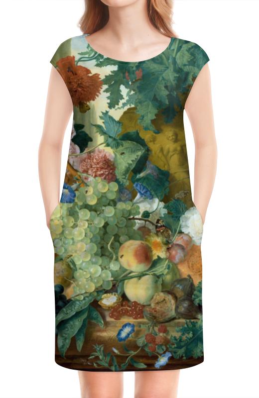 Платье без рукавов Printio Фрукты и цветы (ян ван хёйсум) чехол для samsung galaxy s5 printio цветы ян ван хёйсум