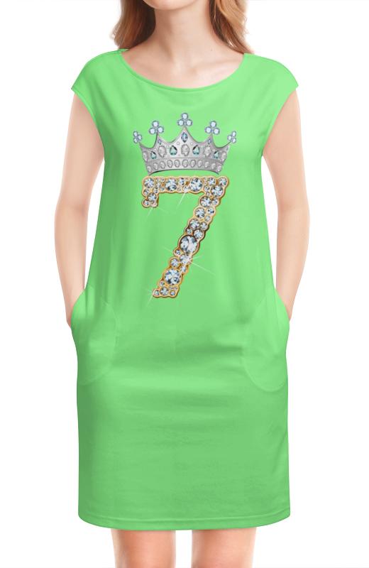 Платье без рукавов Printio Число семерка королевская корона