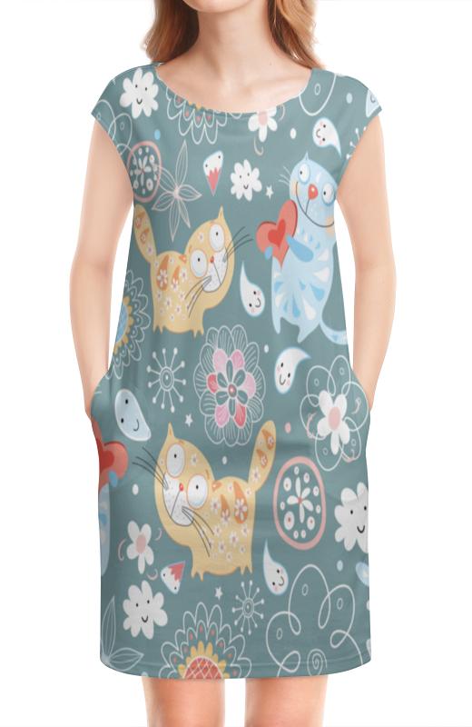 Платье без рукавов Printio Котята