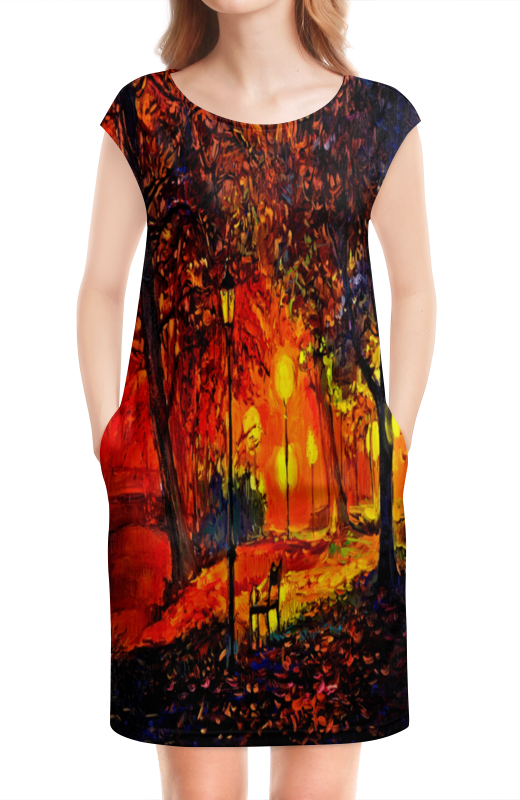 Платье без рукавов Printio Осенняя улица