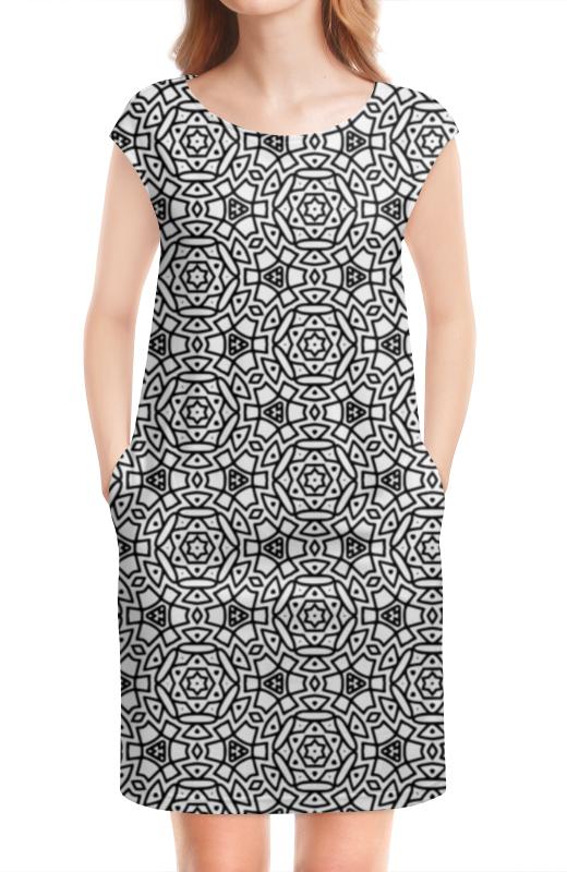 Платье без рукавов Printio Черное и белое платье черное с паетками 44