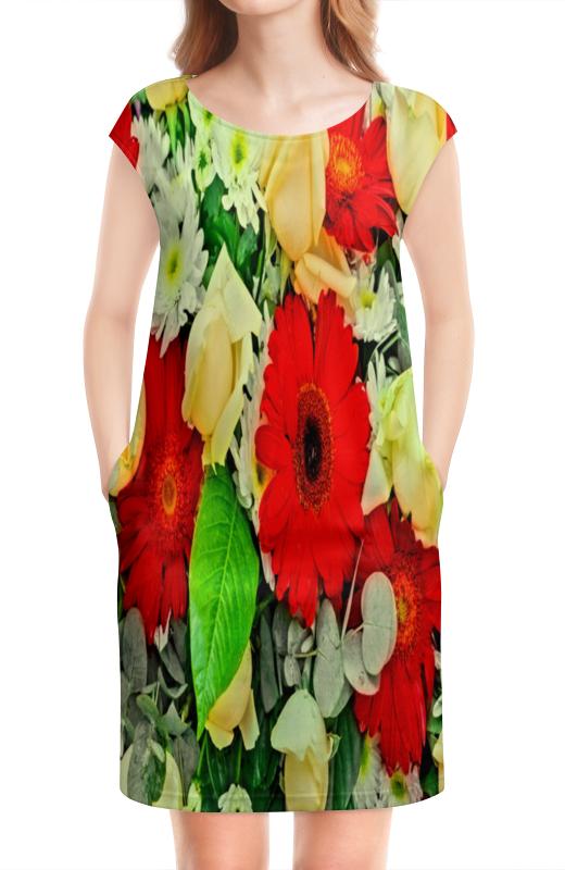 Платье без рукавов Printio Букет цветов букет из цветов жасмина