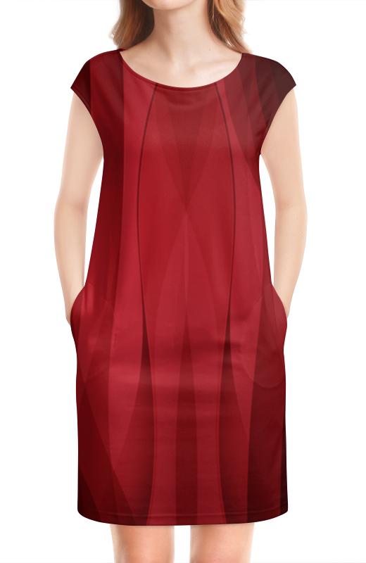 Платье без рукавов Printio Красная абстракция платье без рукавов printio абстрактный узор