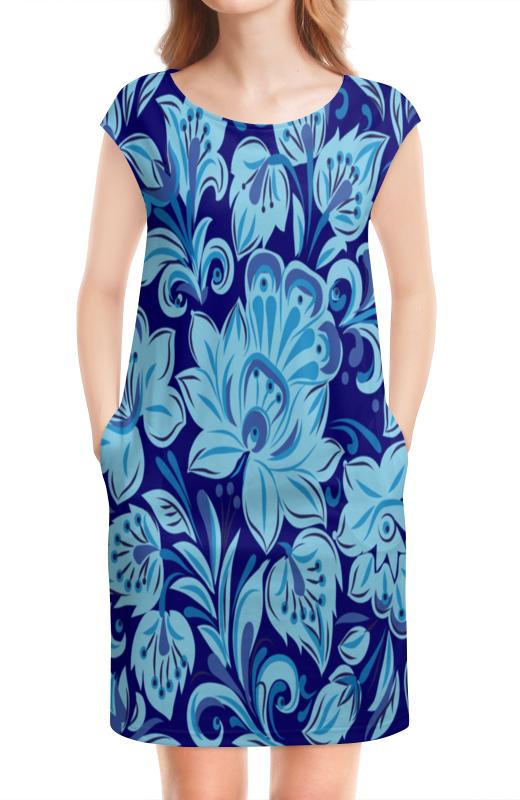 Платье без рукавов Printio Голубые цветы платье без рукавов printio цветы