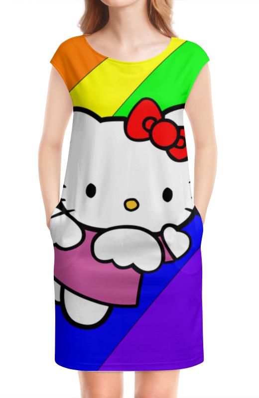 Платье без рукавов Printio Hello kitty платье hello kitty 132015201