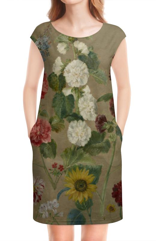 Платье без рукавов Printio Цветы (эжен делакруа)
