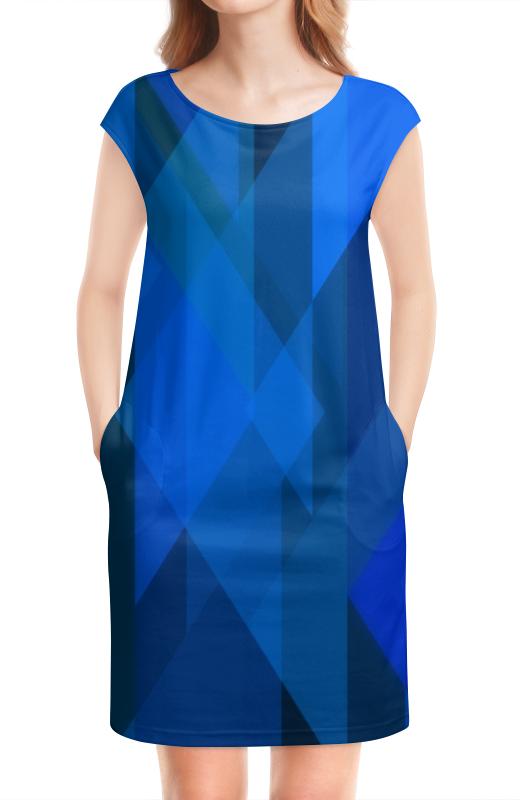 Платье без рукавов Printio Абстрактный синий платье без рукавов printio абстрактный узор