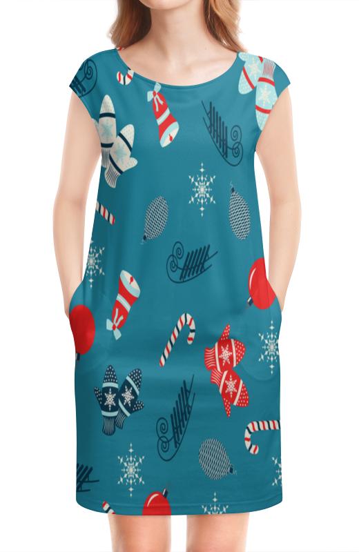 Платье без рукавов Printio Новогодние подарки