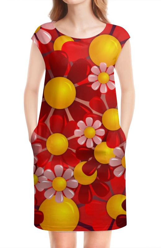 Платье без рукавов Printio Ромашки платье без рукавов printio мелкий горошек