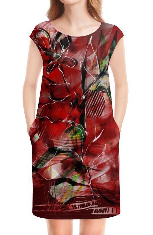 Платье без рукавов Printio Огненно-цветочная абстракция анатолий фоменко как было на самом деле каждая история желает быть рассказанной
