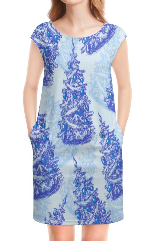 Платье без рукавов Printio Снежные елки