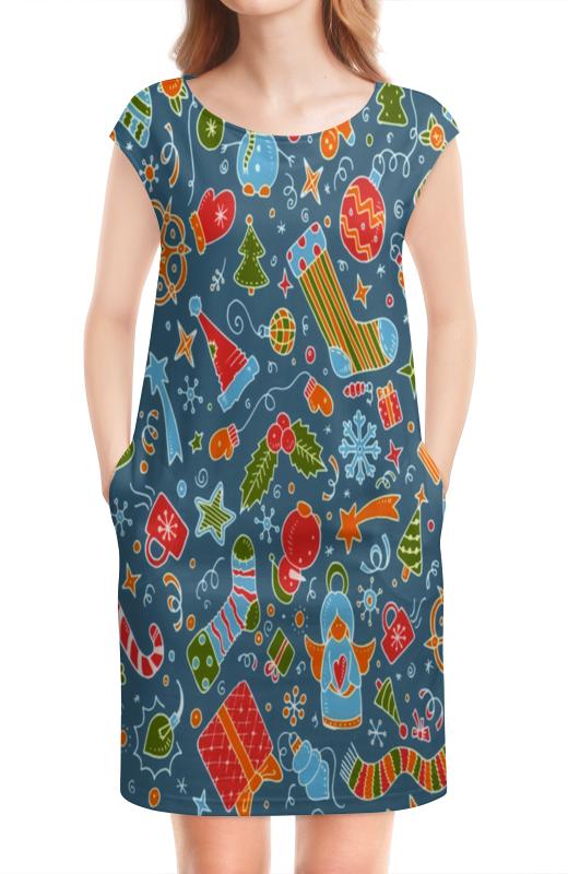 Платье без рукавов Printio Новогодние игрушки