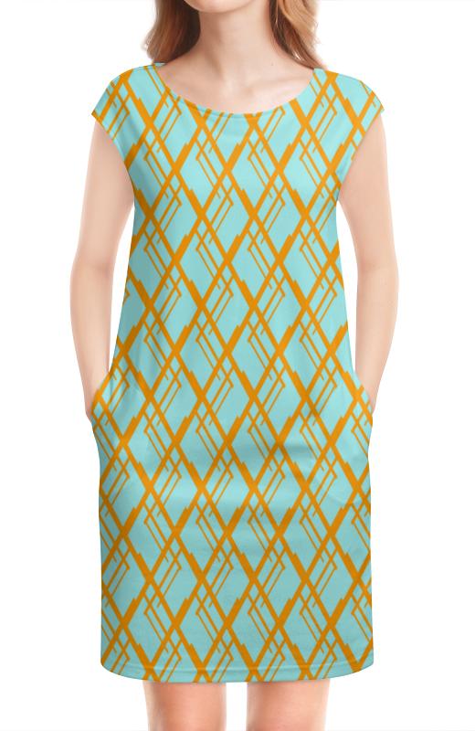 Платье без рукавов Printio Оранжевая клетка