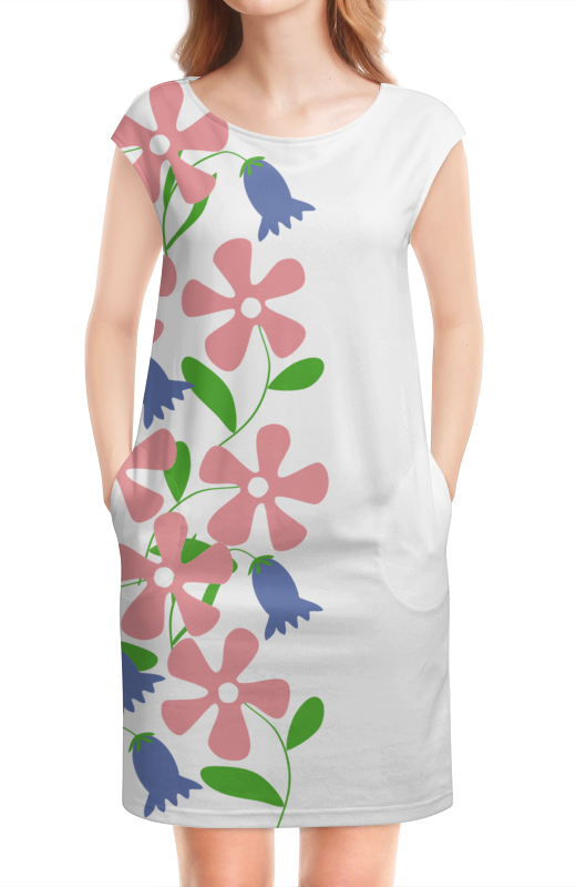 Платье без рукавов Printio Колокольчики