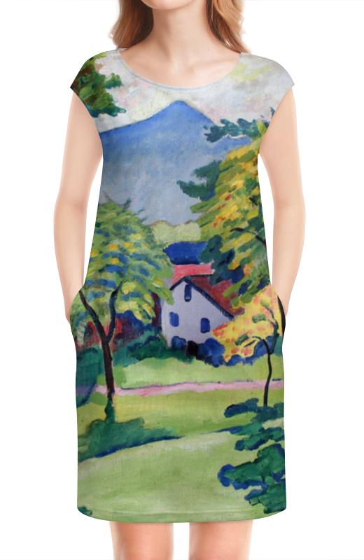 Платье без рукавов Printio Пейзаж в тегернзее (август маке) платье без рукавов printio парусник в тегернзее август маке