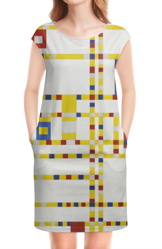 Платье без рукавов Printio Бродвей буги-вуги (питер мондриан) чехол для samsung galaxy s5 printio бродвей буги вуги питер мондриан