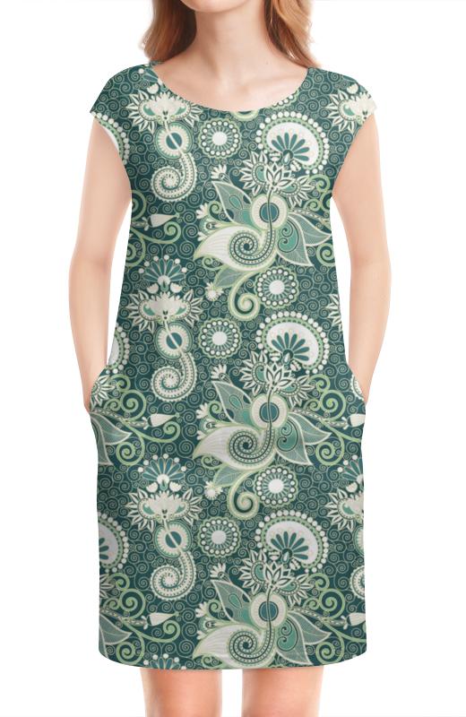 Платье без рукавов Printio Турецкие огурцы (бирюза)
