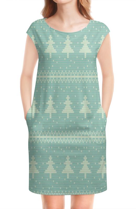 Платье без рукавов Printio Елка новогодняя модели без клея и ножниц новогодняя елка