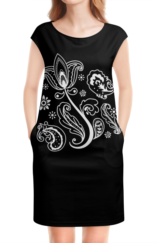 Платье без рукавов Printio Тюльпан кабель тюльпан