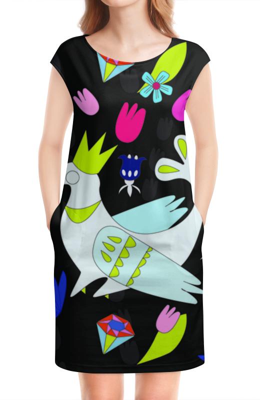 Платье без рукавов Printio Курица-королева двустороннее printio платье без рукавов