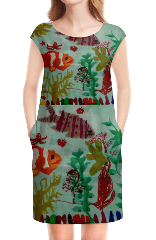 Платье без рукавов Printio Рыбки интернет магазин рыбки в аквариуме