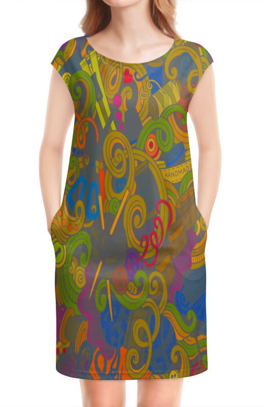 Платье без рукавов Printio Нитки