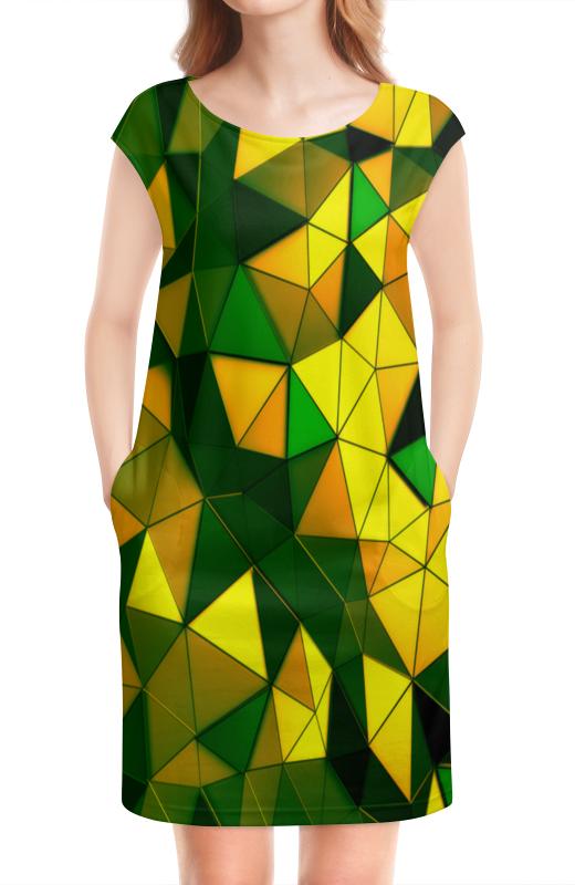 Платье без рукавов Printio Желто-зеленые стекла
