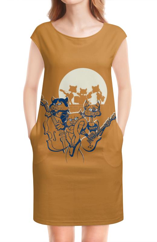 Платье без рукавов Printio Кошачий концерт необыкновенный концерт