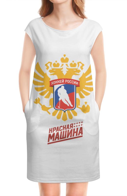 Платье без рукавов Printio Сборная россии по хоккею билет на чм про хоккею минск