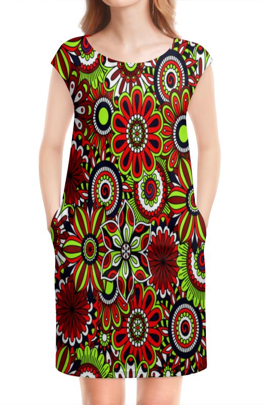 цены на Платье без рукавов Printio Узор цветов в интернет-магазинах