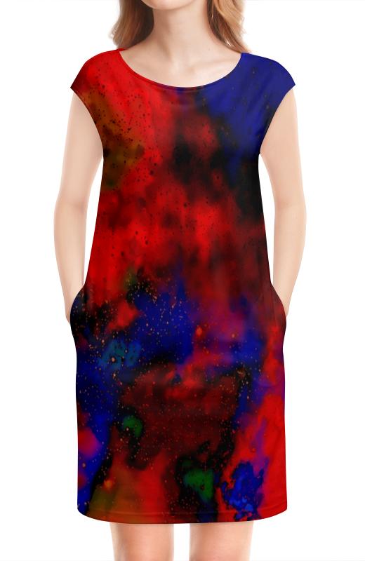 Платье без рукавов Printio Красно-синий узор stark tanuki 12 бело красно синий