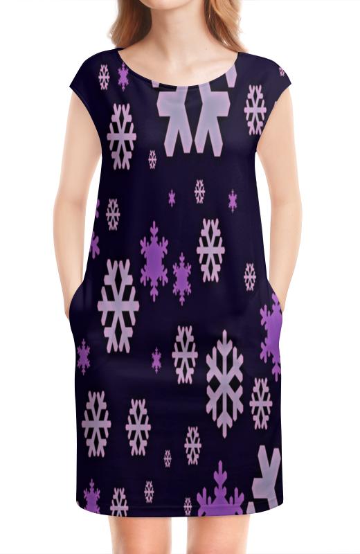 Платье без рукавов Printio Снежинки костюм маленькой снежинки 32