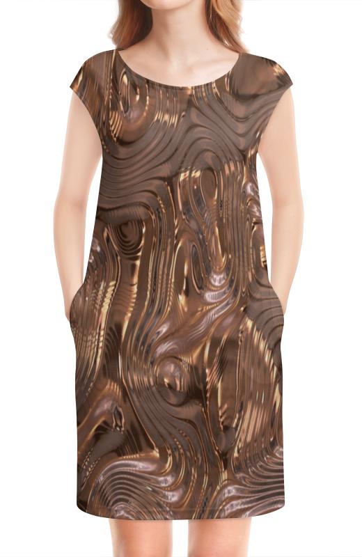 Платье без рукавов Printio Золотой шелк павлово посадский шелк