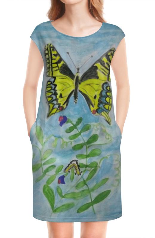 Платье без рукавов Printio Бабочка-красавица набор шьем кармашек веселая бабочка 3276