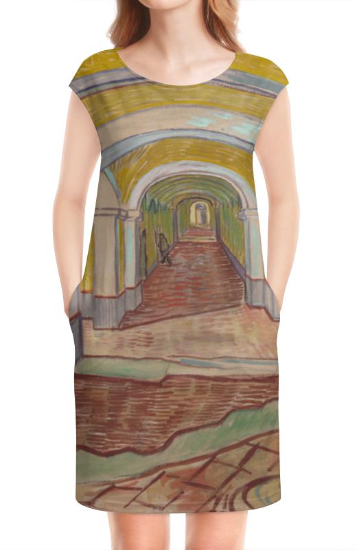 Платье без рукавов Printio Коридор убежища святого павла в сен-реми