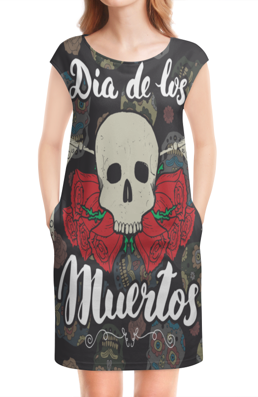 Платье без рукавов Printio Día de muertos