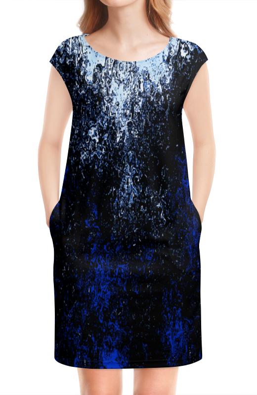 Платье без рукавов Printio Черно-синие брызги