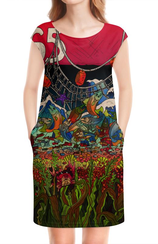 Платье без рукавов Printio Рождение и смерть лосося виктор елисеевич дьяков рождение чувств