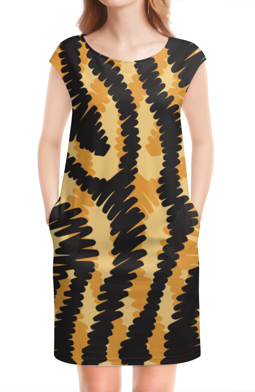 Платье без рукавов Printio Тигровый тигровый орех купить в москве