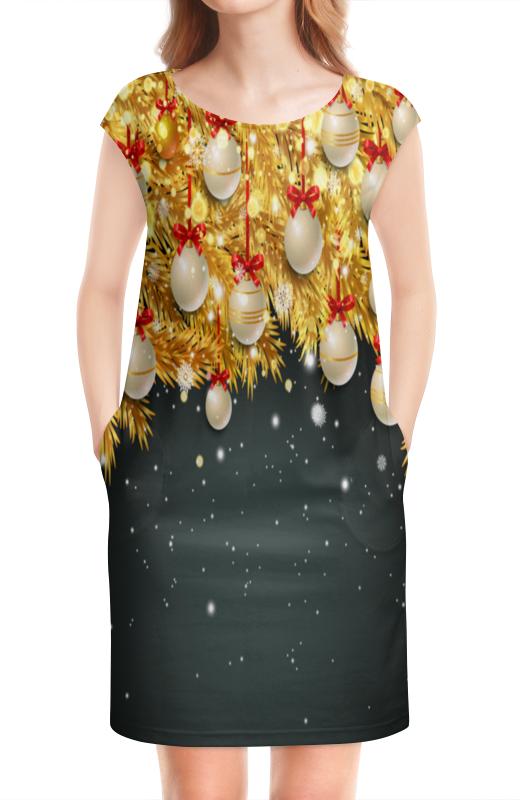 Платье без рукавов Printio Новогодние украшения