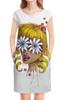 """Платье без рукавов """"Без ума от цветов"""" - любовь, девушка, цветы, сердца, блондинка"""