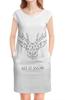 """Платье без рукавов """"Dear Deer"""" - рисунок, дизайн, олень, минимализм, рога"""