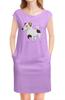 """Платье без рукавов """"ДЖЕК РАССЕЛ.СОБАКА"""" - майкл джексон, щенок, собака, животное, рассел"""