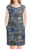 """Платье без рукавов """"Лесная жизнь"""" - животные, лес, природа, звери, мимими"""