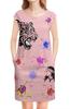 """Платье без рукавов """"Розовая майдера"""" - розовый, абстракция, майдера"""
